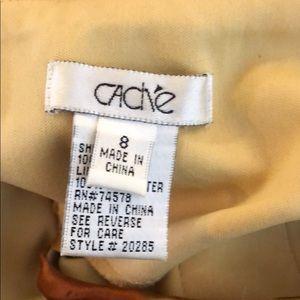 Cache Tops - REAL SILK Beaded Cache Zip Tie Neck Top T18